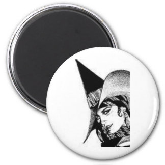 The Cute Witch 2 Inch Round Magnet