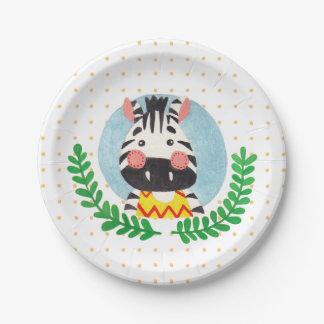 The Cute Zebra Paper Plate