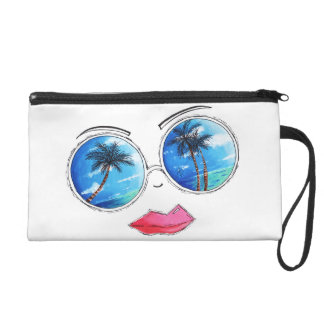 The Cutest Chic Tropical Sunglasses Lips Wristlet