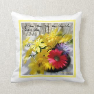 The Cutest Happy Daisies Throw Pillow