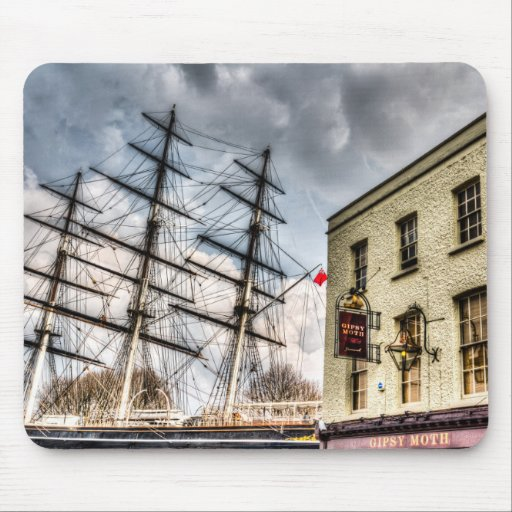 The Cutty Sark and Gipsy Moth Pub Greenwich Mouse Pad