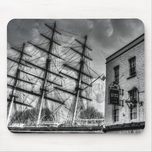 The Cutty Sark and Gipsy Moth Pub Greenwich Mousepads
