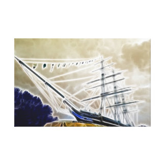 The Cutty Sark Greenwich Stretched Canvas Prints
