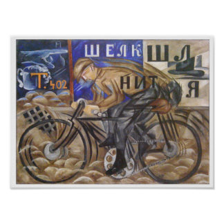 The Cyclist by Natalia Goncharova Poster