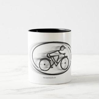 The Cyclist... Two-Tone Coffee Mug