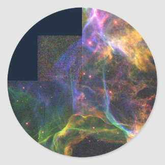 The Cygnus Loop Nebula- Shockwave from a Stellar E Sticker