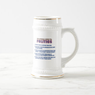 The Cynical Guide to Politics Beer Stein