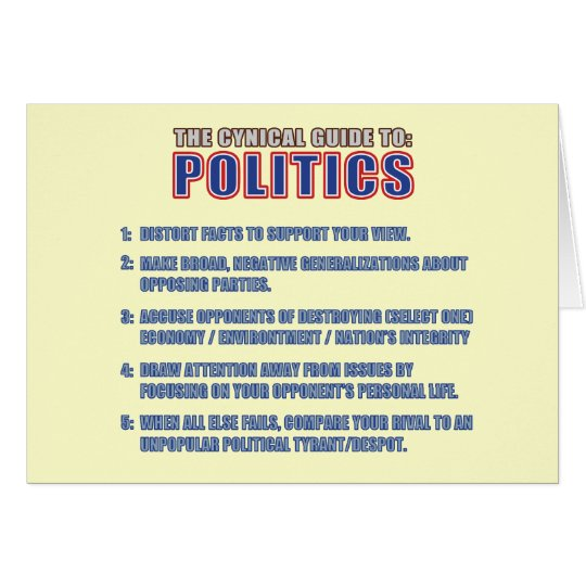 The Cynical Guide to Politics Card