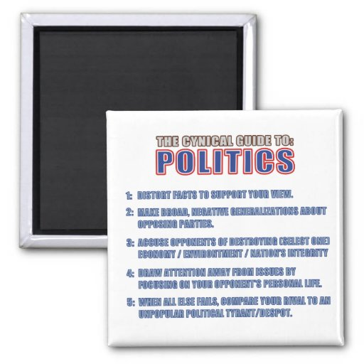The Cynical Guide to Politics Fridge Magnet