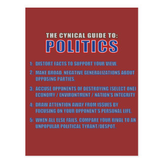 The Cynical Guide to Politics Postcard