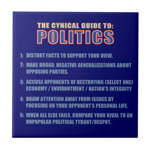 The Cynical Guide to Politics Ceramic Tile