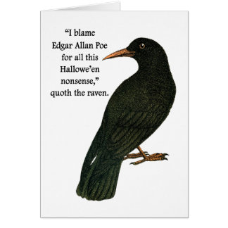 The Cynical Halloween Raven Card