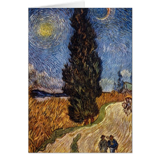 The Cypress Road by Vincent Willem van Gogh Card