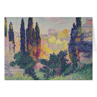 The Cypresses at Cagnes, 1908 Card