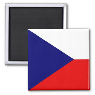 The Czech Republic Flag 2 Inch Square Magnet