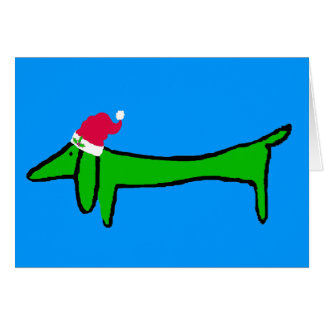 The Dachshund for Christmas Card