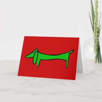 The Dachshund for Christmas Holiday Card