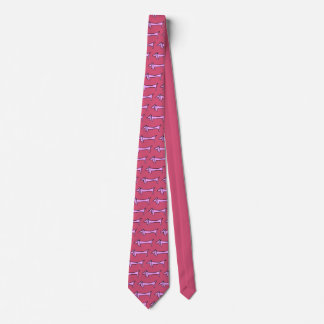 The Dachshund Pink Neck Tie