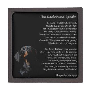 The Dachshund Speaks Jewelry Box
