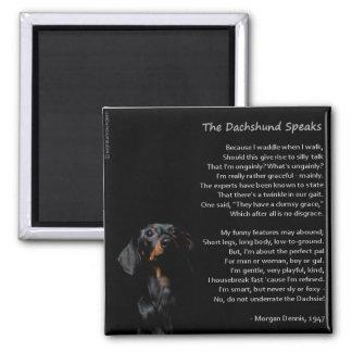 The Dachshund Speaks Magnet