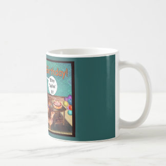 The Dachshunds celebrate a birthday Coffee Mug