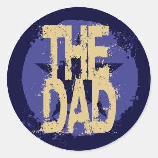 THE DAD CLASSIC ROUND STICKER