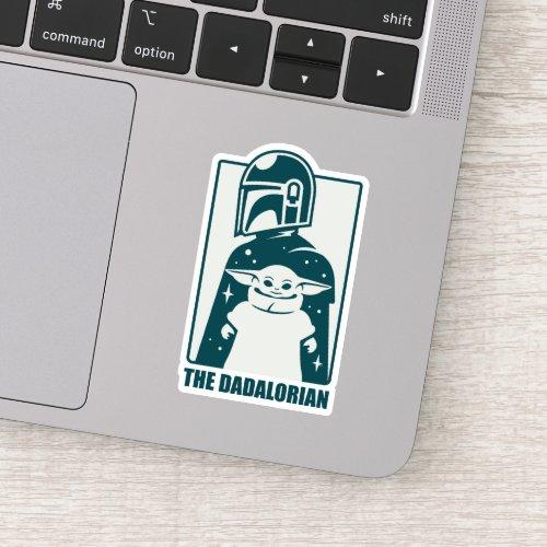 The Dadalorian  Grogu Space Silhouette Badge Sticker