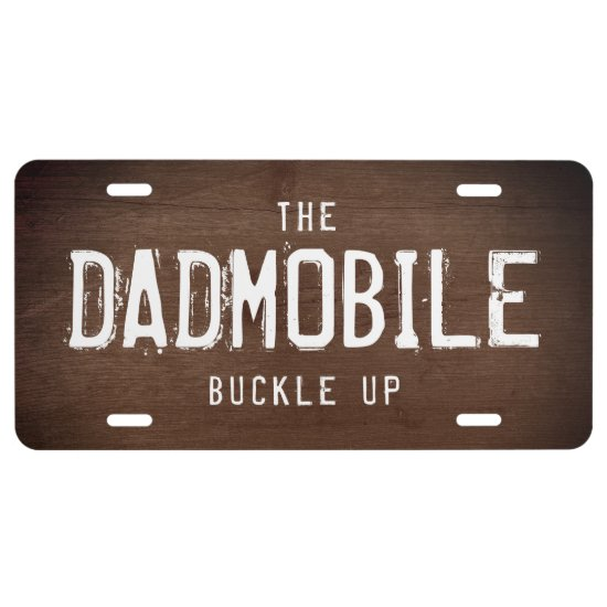 The DADMOBILE Fun License Plate for DAD