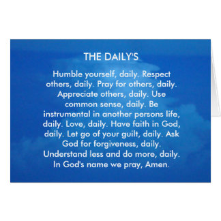 THE DAILY'S CARD