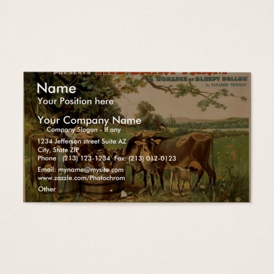 The Dairy Farm Retro Theater Business Card