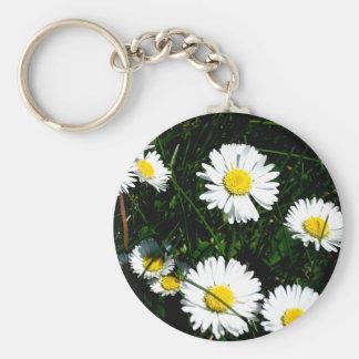 The Daisies Basic Round Button Keychain