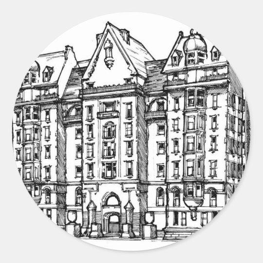 The Dakota Apartments_1.jpg Classic Round Sticker