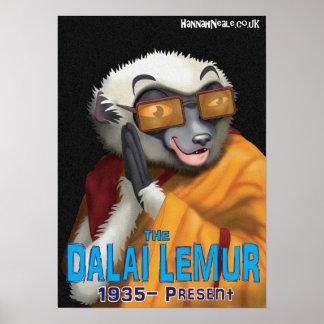 The Dalai Lemur Poster