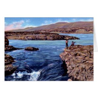 The Dalles Oregon Celilo Falls Card