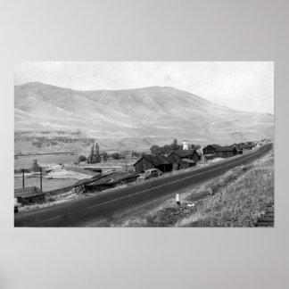 The Dalles, Oregon Indian Village View Photograp Poster