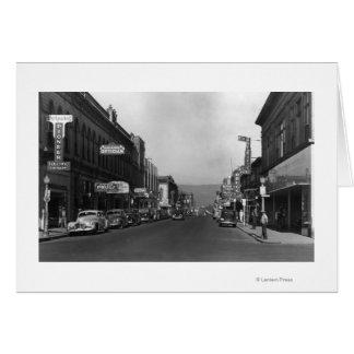 The Dalles, Oregon Main Street Town View Card
