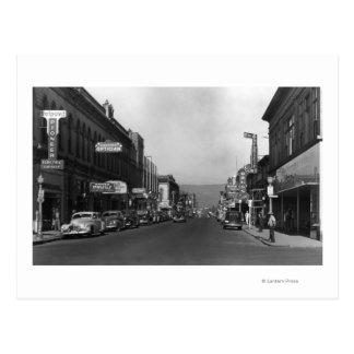 The Dalles, Oregon Main Street Town View Postcard