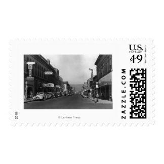 The Dalles, Oregon Main Street Town View Stamp