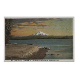 The Dalles, Oregon - Mt. Hood from Columbia Rive Poster