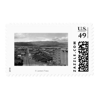 The Dalles, Oregon Town View Looking West on 2nd Stamp