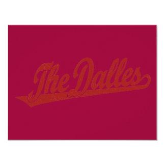The Dalles script logo in white distressed Card