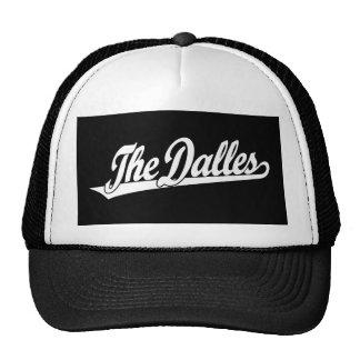 The Dalles script logo in white Trucker Hat