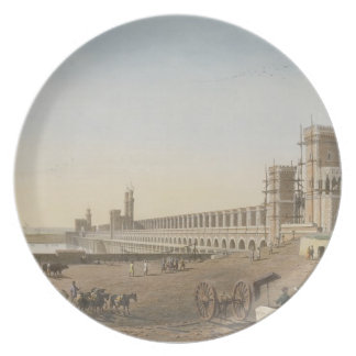 The Dam across the Nile, the building of the Aswan Party Plates