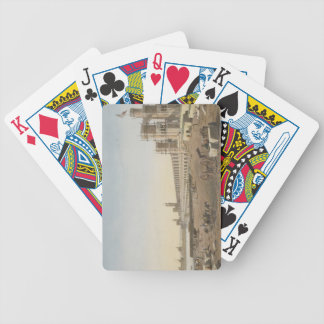 The Dam across the Nile, the building of the Aswan Bicycle Poker Deck