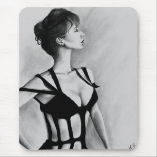 The Dame Original Art Portrait Drawing Mousepad