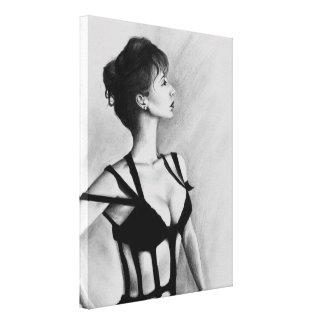The Dame Original Art Portrait Wrapped Canvas Canvas Print
