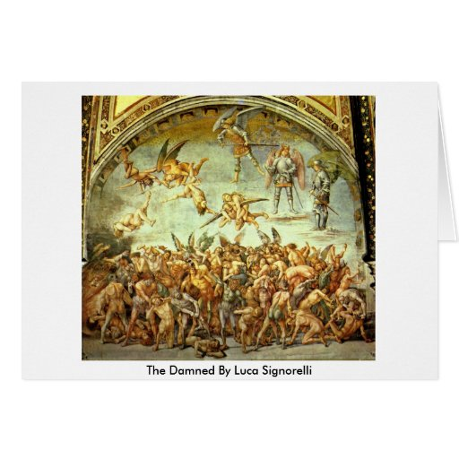 The Damned By Luca Signorelli Greeting Card