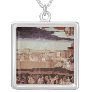 The Damned in Hell Square Pendant Necklace