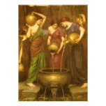 The Danaides by Waterhouse, Vintage Victorian Art Personalized Announcements