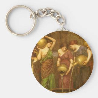 The Danaides by Waterhouse, Vintage Victorian Art Key Chain